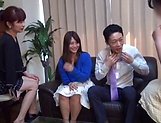 Three light-minded Japanese milfs get fucked by one guy