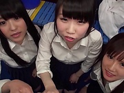 Naughty schoolgirls in kinky hardcore sexual fun