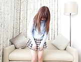 Spicy Aise Miki toys pussy in solo action picture 15