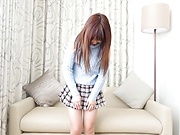 Spicy Aise Miki toys pussy in solo action