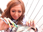 Naughty school girl shows her kinky skills
