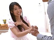 Shiraito Rin pussy fucked and jizzed on tits