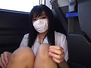 Hottie excites in a sloppy car sex scene