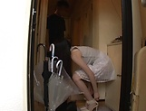 Ootori Kaname enjoys her shaved pussy stretched picture 11
