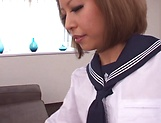Japanese babe fucked in amazing POV show picture 15