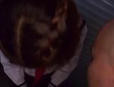 Charming schoolgirl delights stud with outstanding blowie picture 13
