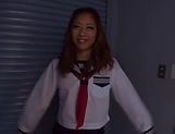 Charming schoolgirl delights stud with outstanding blowie