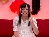 Miyazawa Yukari takes a messy cum in mouth picture 11