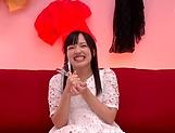 Miyazawa Yukari takes a messy cum in mouth picture 12
