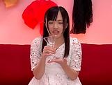 Miyazawa Yukari takes a messy cum in mouth