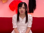 Miyazawa Yukari jerks off palpitating dick