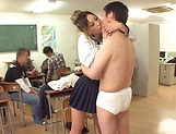 Raunchy action by a yummy schoolgirl picture 13