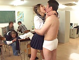 Raunchy action by a yummy schoolgirl picture 14