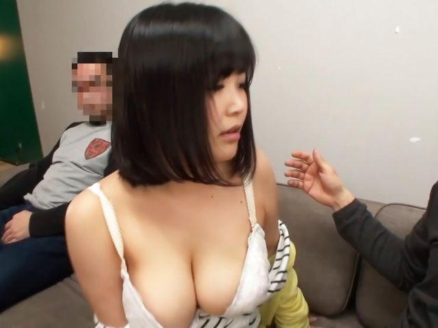 Kawai Mayu, gets a messy cum on tits