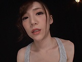 Busty woman amazes with complete cock sucking play