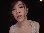 Busty bimbo provides amazing Asian handjob