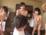 Appealing Asian hotties wild orgy delight