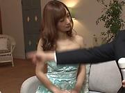 Kaede Fuyutsuki, enjoys a kinky toy isertion