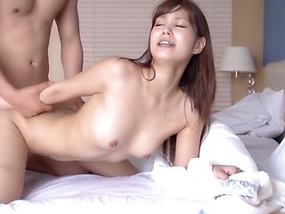 Naive errant Asian minx sucks boner hardcore