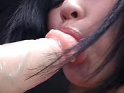 Sexy babe Imanaga Sana blows a stiff schlong