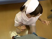 Sweet Asian lady Suzumura Airi gives a steamy handjob