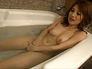 Honda Riko enjoys a sensational masturbation