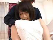 Takamiya Yui has her shaved pussy stretched