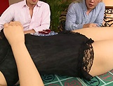 Kinky hardcore threesome session involving sexy Sonoda Mion