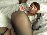 Super hardcore action by a yummy office lady