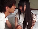 Cute Asian teen beauty loves cock riding fun picture 2