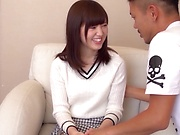 Hot Asian teen enjoys getting her tiny twat drilled doggystyle