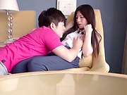 Young  Japanese AV Model fucked on cam in heavy modes