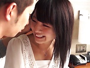 Alluring Asian hottie gets her gaping cunt pounded hardcore