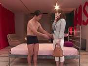 Hatano Yui gets her gaping wet muff filled with cum