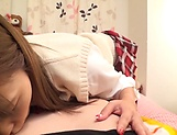 Nice teen prforms a sensual footjob picture 12