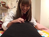 Nice teen prforms a sensual footjob