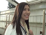 Oohinata Haruka pleasured by a sloppy fingering picture 12