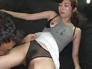 Katou Honoka moans in a hardcore fisting