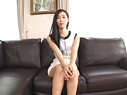 Casting Japanese babe ends up sucking and fucking