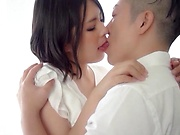 Big tits Ootsuka Ren gets her pretty face filled with cum