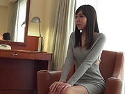 Petite beauty Shiraishi Rin in a wild erotic caress session
