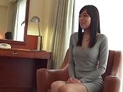 Petite beauty Shiraishi Rin in a wild erotic caress session