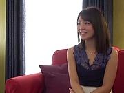 Shirasaki Yuzu enjoys a standing fuck