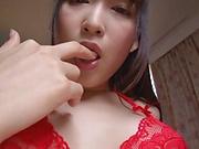 Hasumi Kurea in smashing solo masturbation show
