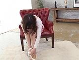 Wild fingering session involving pretty teen Hinata Saeka