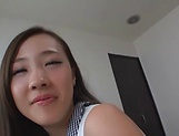 Sexy Saki Asumi gets a messy cum on face picture 14