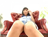 Hottie Riku Minato flaunts her wet pussy for a young bloke