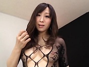 Hot milf looks sexy in her lingerie