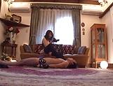 Pretty babe Shinoda Ayumi in black stockings enjoys a shag picture 15