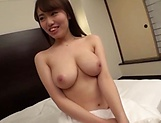 Amateur babe with big tits sucks cock
